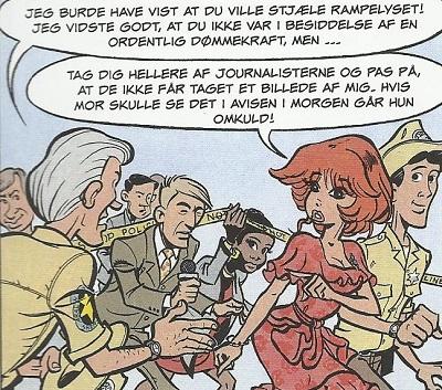 Rubine og et knippe journalister