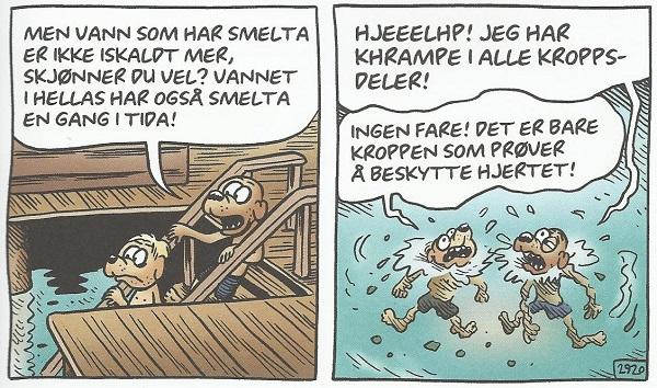 Overflødig, men underholdende, å vise hvordan det går når Rocky bruker sin skrudde logikk for ta seg en dukkert ved et nordnorsk ferjeleie.