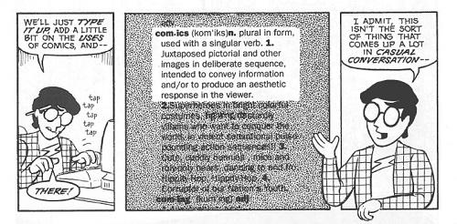 Scott McClouds tegneseriedefinisjon. Hvordan lyder den i norsk språkdrakt?