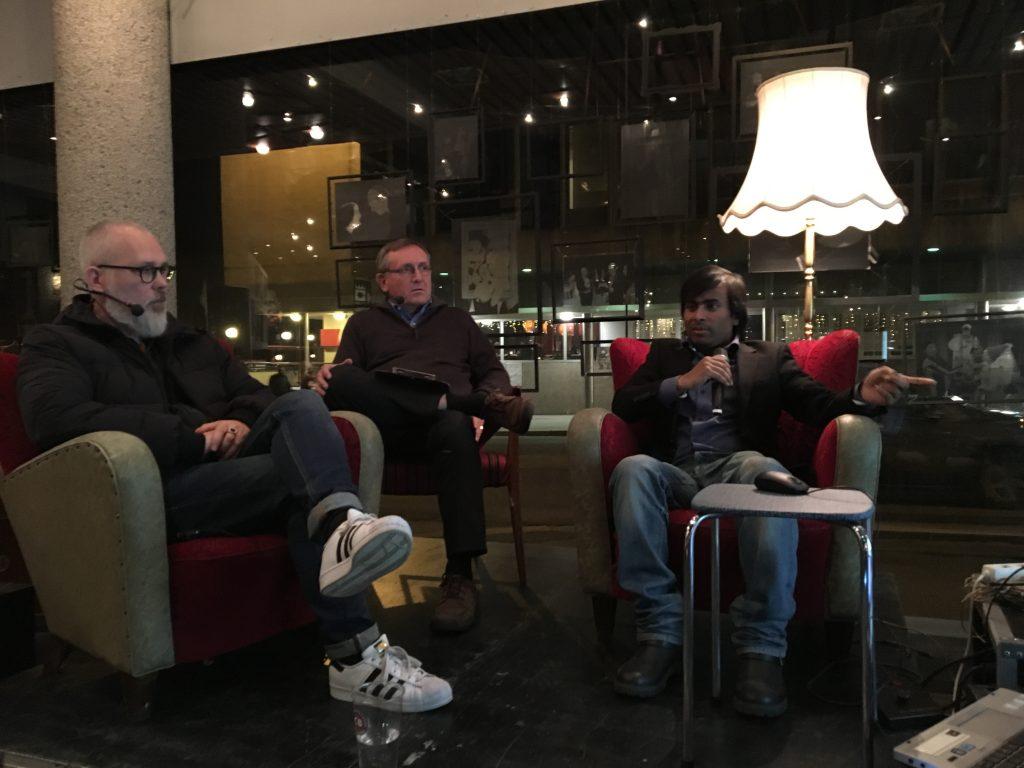 F.v. Marvin Halleraker, Kåre Melhus, Arifur Rahman
